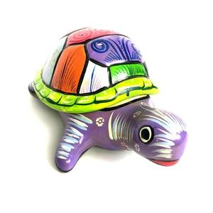 Other - Hand Painted Ceramic Turtle Trinket Box